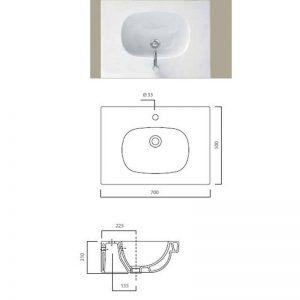 Serie 500 tvättställ 41022