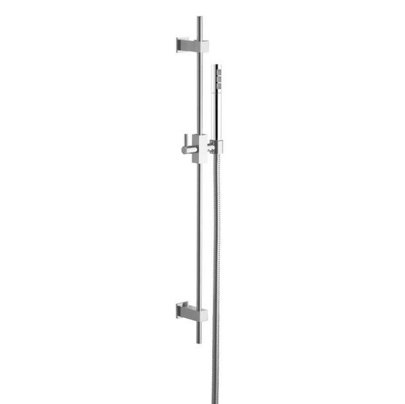 Square duschstång med handdusch