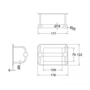 Måttuppgifter toalettrullehållare BUR-A5CHR
