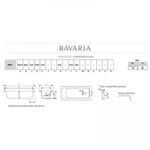 Bavaria badkar för inbyggnad