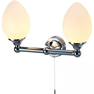 Burlington dubbel elliptisk lampa BUR-T53CHR