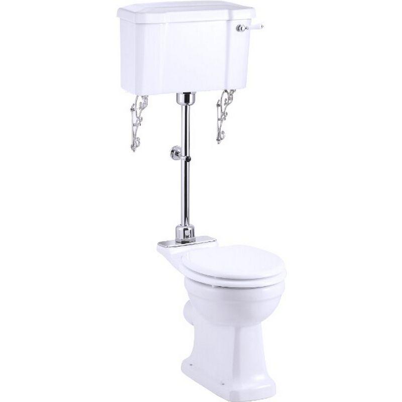 Burlington mellanhög toalett med normal sitthöjd