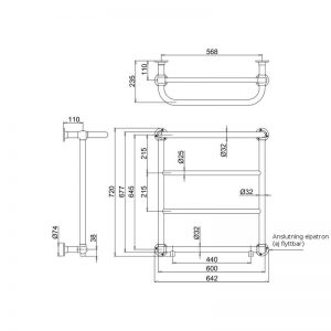 Cleaver handdukstork BUR-R3CHR