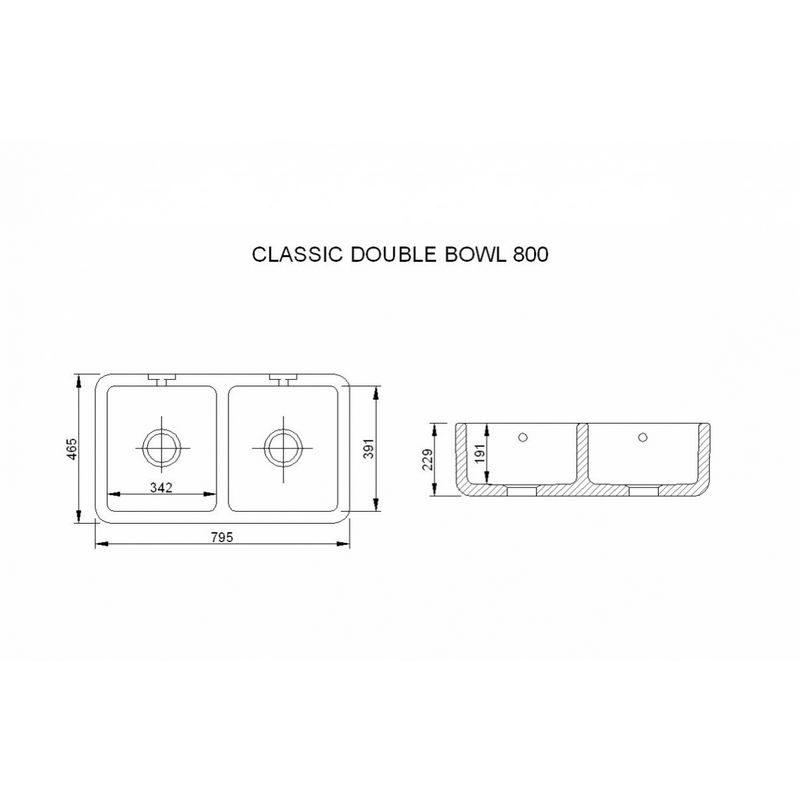 Måttuppgifter Classic Double 800