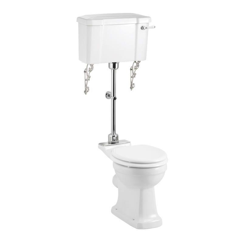 Burlington mellanhög toalett med förhöjd sitthöjd