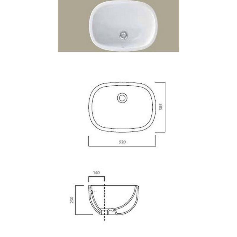 Serie 500 tvättställ 41088