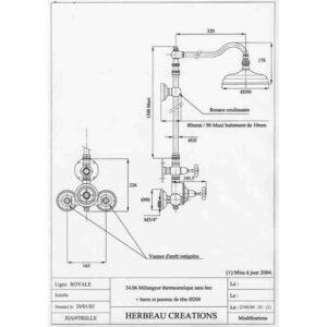 Royale duschset med termostat 34.06 – 34.07