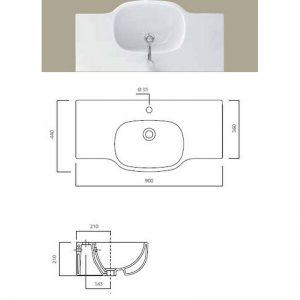 Serie 500 tvättställ 90 cm