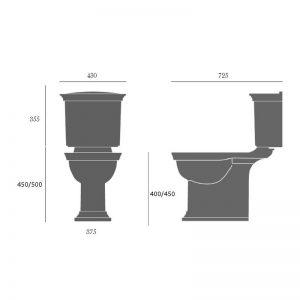 Blenheim golvstående toalett