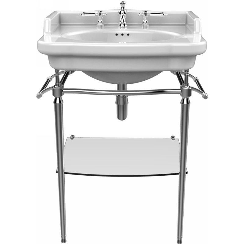 New Victoria tvättställ med kromställning och tillbehör