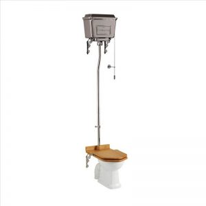 Burlington högspolande toalett med metallcistern