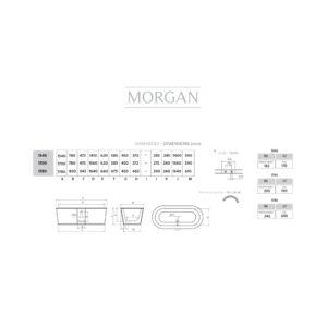 Morgan fristående badkar