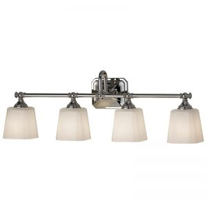 Addislade badrumslampa, fyra ljuskällor
