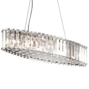 Clifton oval badrumslampa av kristall