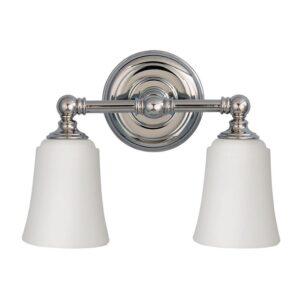 Coquet badrumslampa, två ljuskällor
