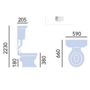 Granley högspolande toalett