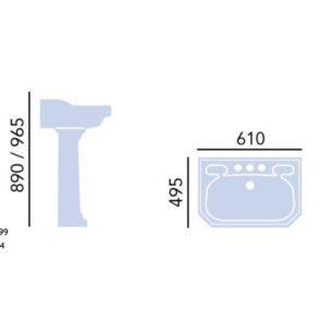 Granley tvättställ 61 cm