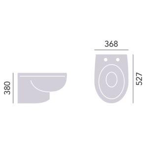 Granley vägghängd toalett