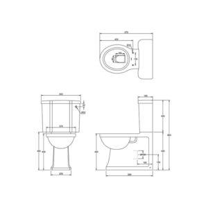 Arcade golvstående toalett
