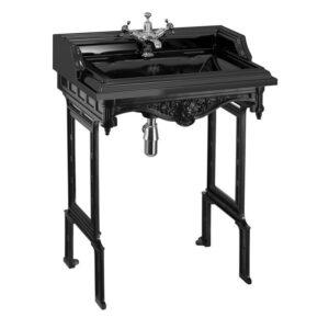 Burlington Classic svart tvättställ 65 cm