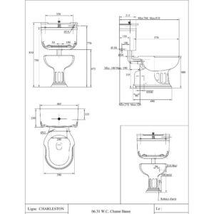 Charleston toalettstol