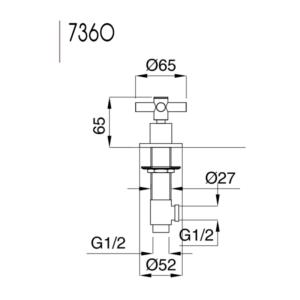 Rodos diskmaskinsventil 7360