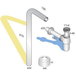 Vattenlåspaket tradition (L-rör)