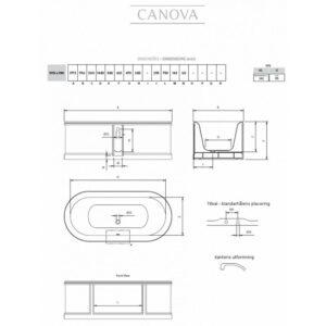 Canova fristående badkar