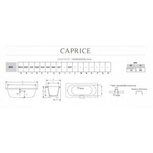 Caprice badkar för inbyggnad