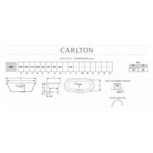 Carlton badkar med tassar