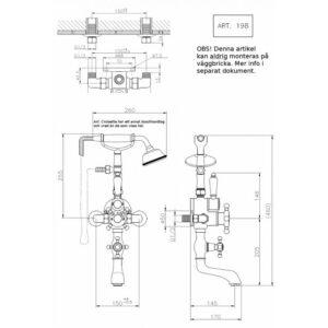 Victorian badkarsblandare med termostat 198