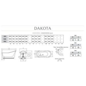 Dakota fristående badkar