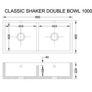 Classic Shaker 1000 porslinsho