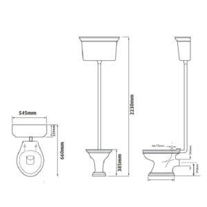 Dorchester högspolande toalett