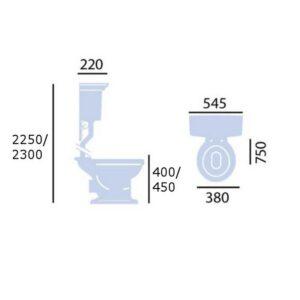 Blenheim högspolande toalett