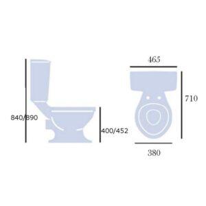 New Victoria golvstående toalett
